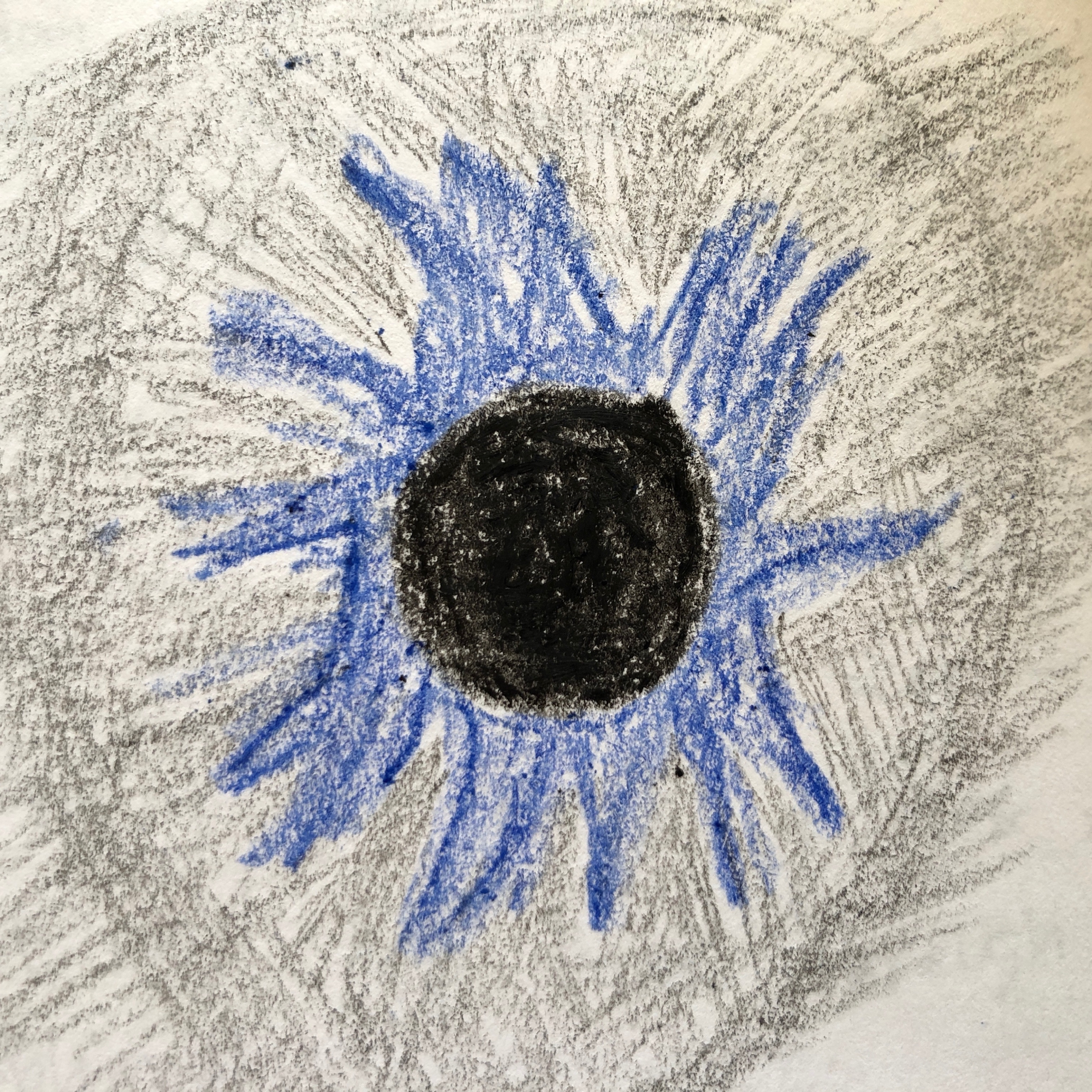 my drawing of the eclipse